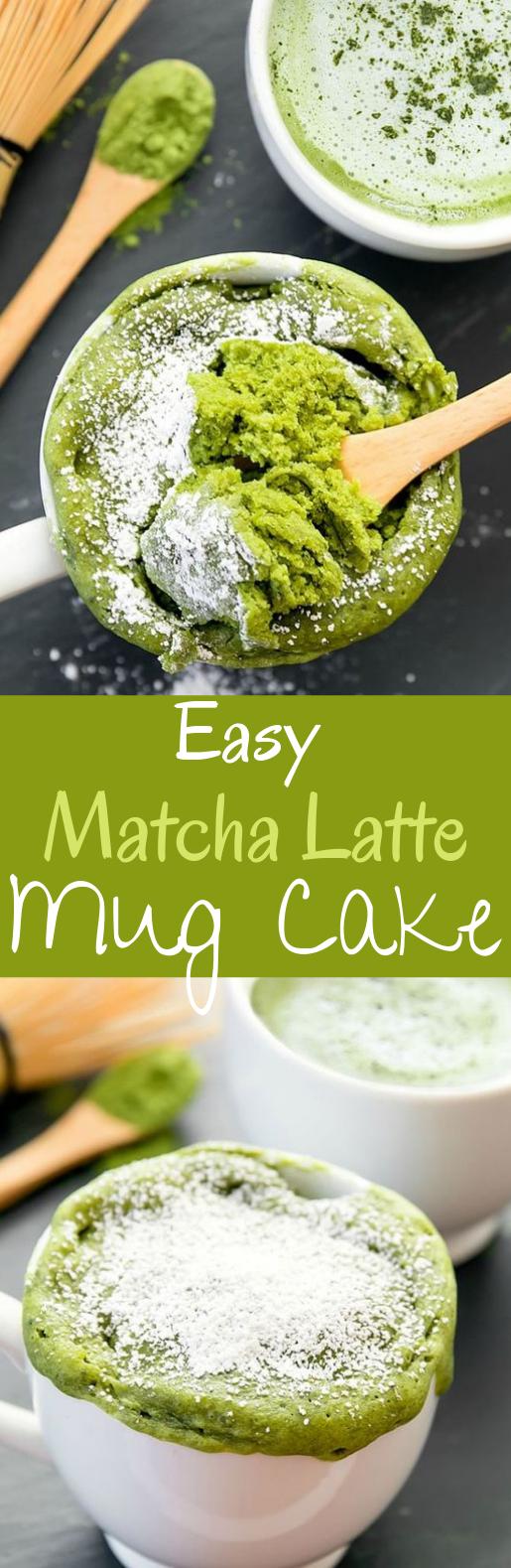 Matcha Latte Mug Cake #desserts #cake