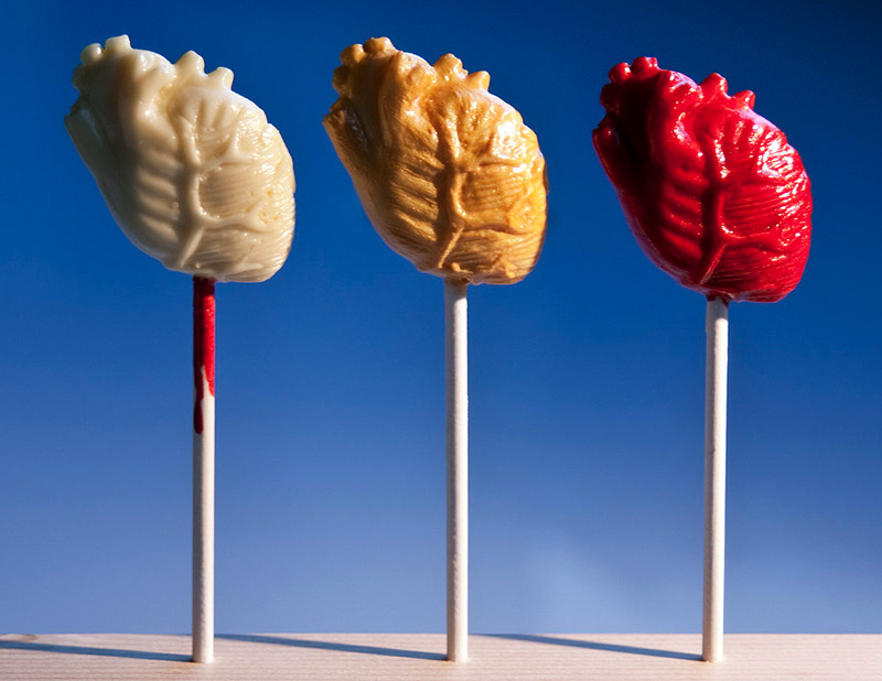 Anatomical Heart Cake Pops by Cake For Breakfast
