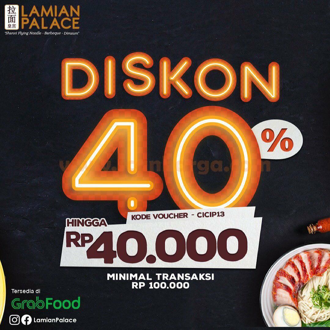 LAMIAN PALACE Promo Diskon Rp 40.000 Via aplikasi GRABFOOD