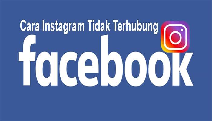 akun instagram tidak terhubung ke facebook