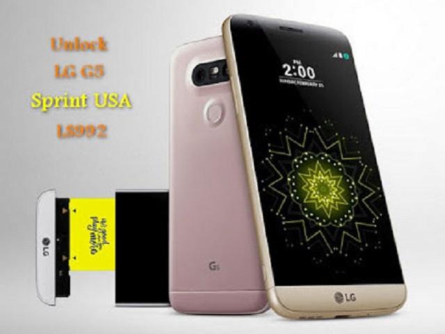 Unlock LG G5 LS992 Sprint