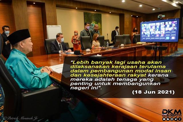 Ketua Menteri Sabah Adakan Interaksi Secara Maya Bersama 241 Orang Pelajar Cemerlang 2020