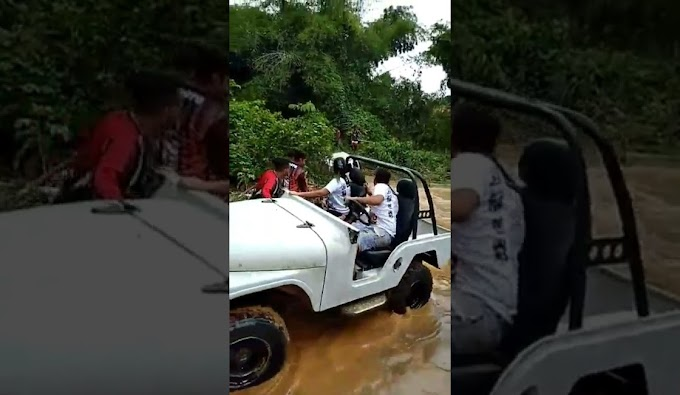 VEJA VÍDEO: MOTORISTA TENTA ATRAVESSAR RIO E CARRO É LEVADO PELA CORRENTEZA EM PALMEIRA DOS ÍNDIOS