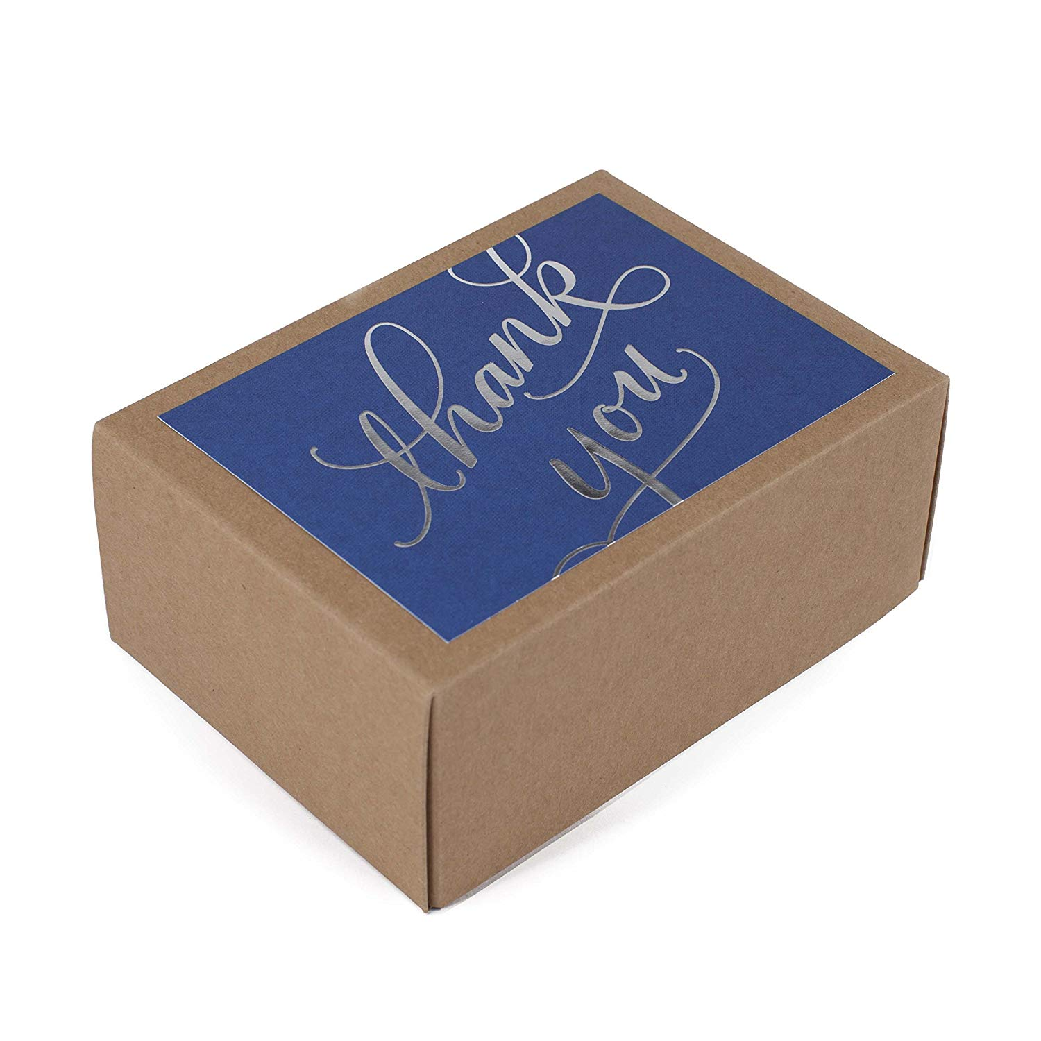 Thank You Cards in Silver Foil