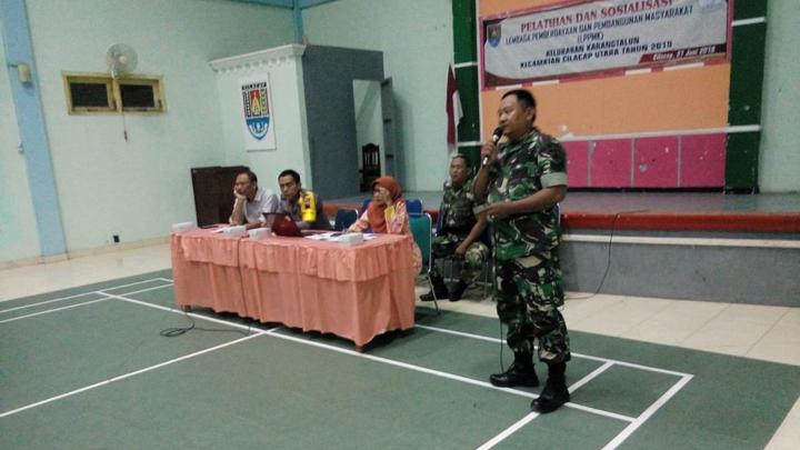 Hadiri Pelatihan dan Sosialisasi LPPM Tingkat Kelurahan, Babinsa Ajak Warga Peduli Wilayahnya
