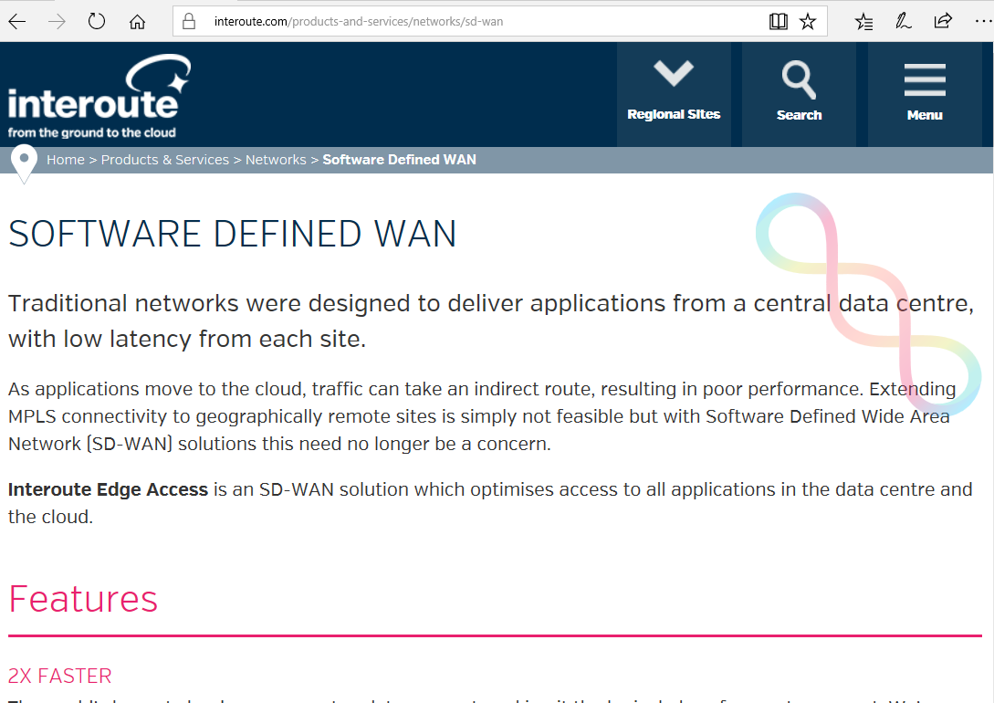 Converge! Network Digest: Interoute launches Edge SD-WAN service