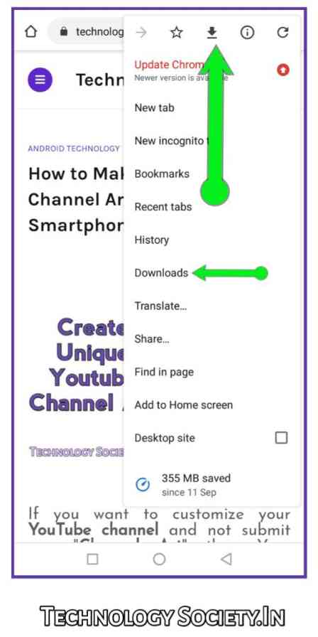 Save Article Offline in Google Chrome Android Smartphone