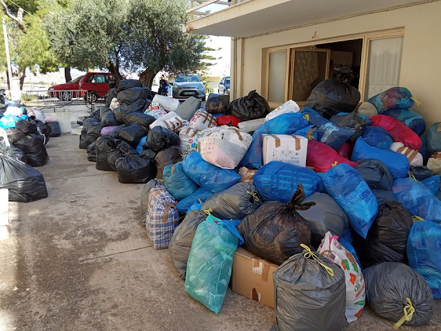 Τεράστια η ανταπόκριση του κόσμου στην εκκληση για ρούχα από τον Ι.Ν. Ευαγγελίστριας Ναυπλίου