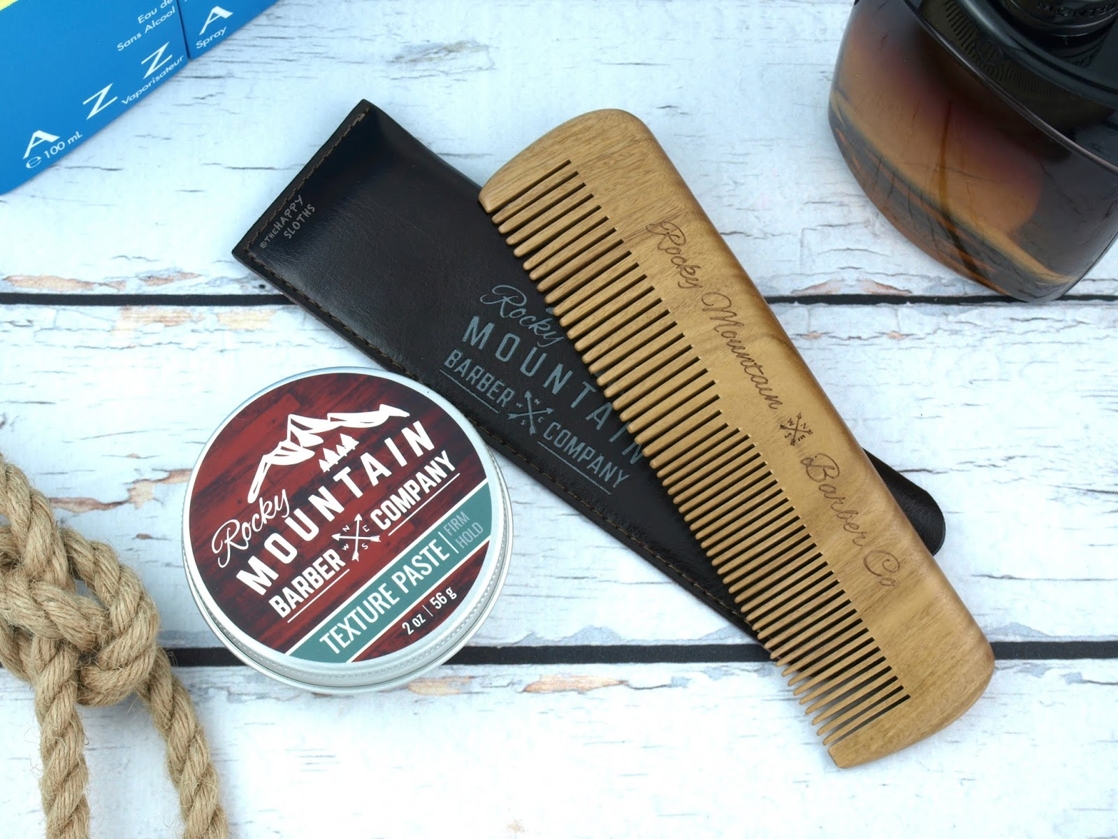 Rocky Mountain Barber Company | Medium and Fine Tooth Comb & Firm Hold Texture Paste