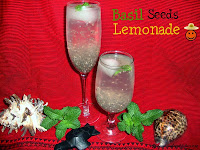 images for Lemonade With Chia Seeds / Chia Seed Lemonade Recipe / Basil Seeds Lemonade/Sweet Basil Seeds Lemonade / Nimbu Pani with Sabja Seeds