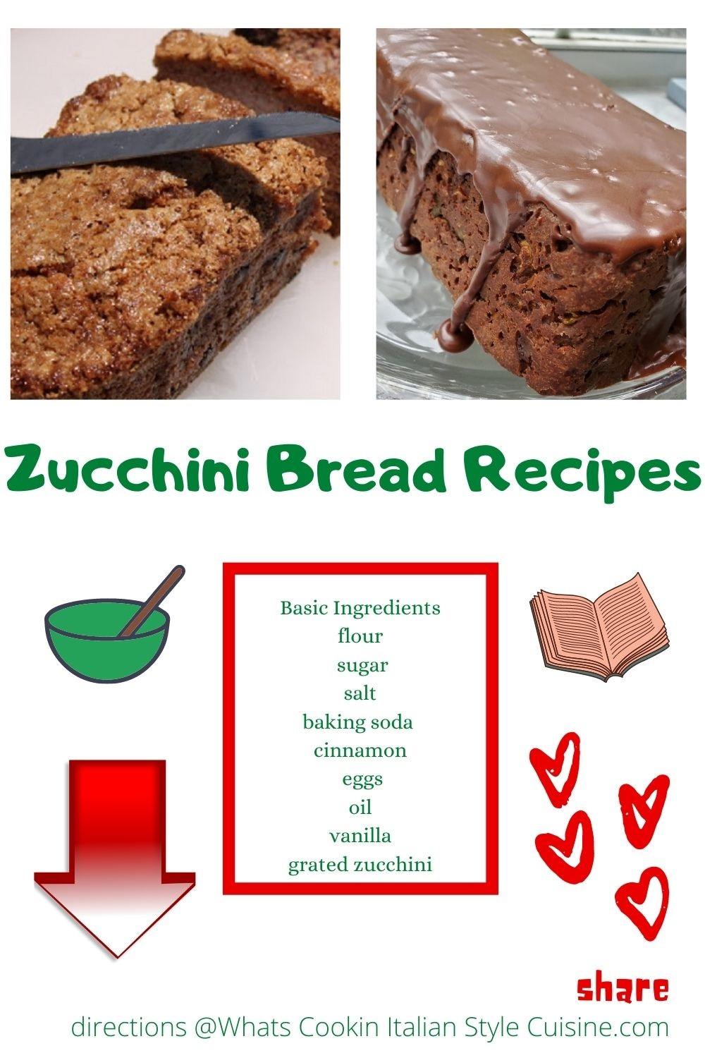 pin for later how to make Chocolate or Regular Zucchini Bread