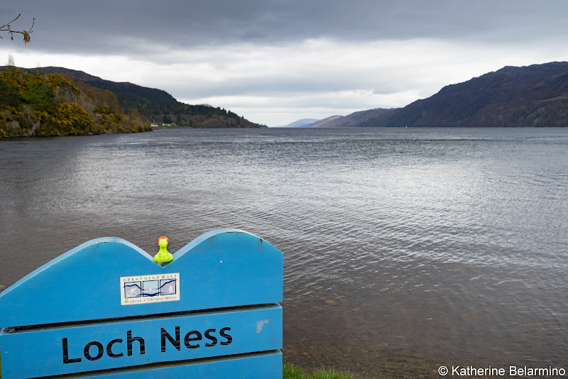 Loch Ness Sign Scottish Highlands Barge Cruise