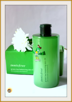 Innisfree green tea balancing skin EX toner review for dry to combination