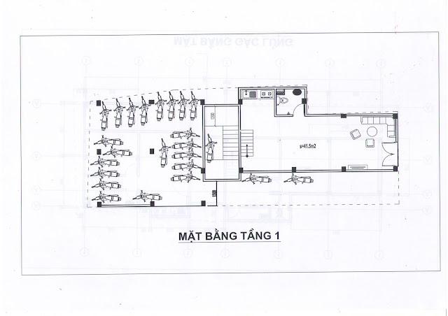 Mặt bằng căn hộ tầng 1 chung cư mini 173 Đông Ngạc giá rẻ nhất Hà Nội