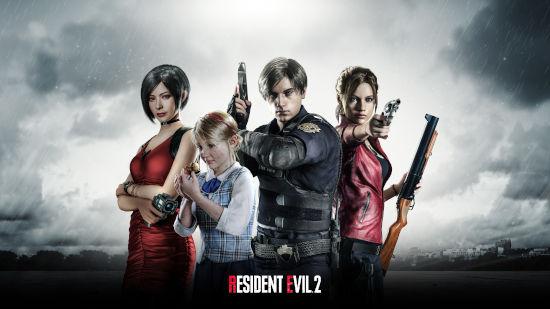 Resident Evil 2 2019 - Titre - 4 Persos - Ultra HD 4K 2160p
