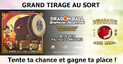 Concours concert Dragon Ball Belgique