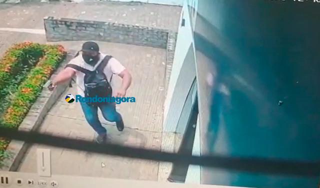 Vídeo: Bandidos roubam R$ 44 mil de empresário em frente ao Sicoob