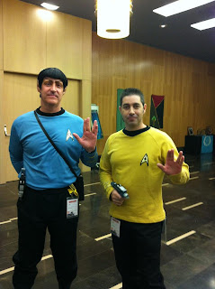 Aficionados de Star Trek que se dieron cita en el evento