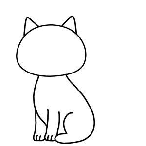 como desenhar um gato kawaii