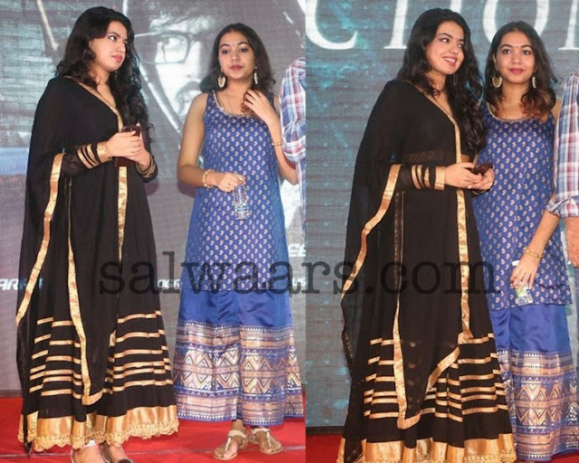 Rajashekar Daughters in Floor Length Salwars