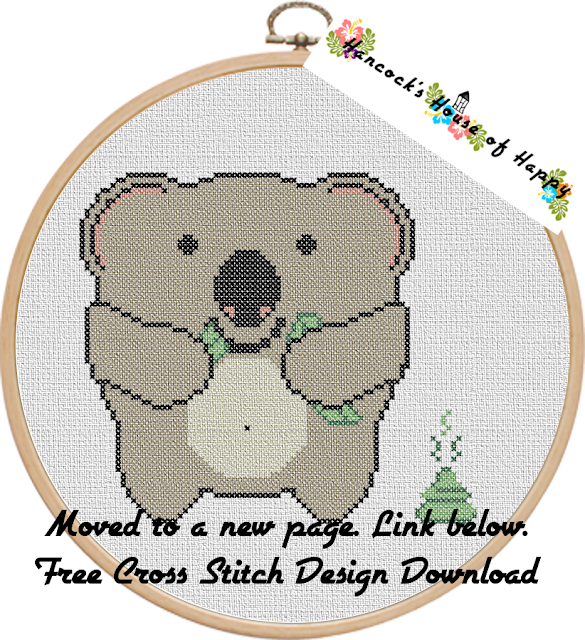 Free cross stitch pattern of a koala