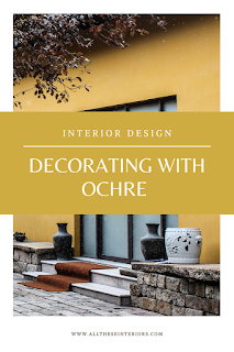 Pintrest graphic decorating with ochre