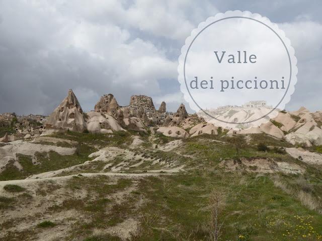 Valle dei Piccioni in Cappadocia: veduta di Uchisar