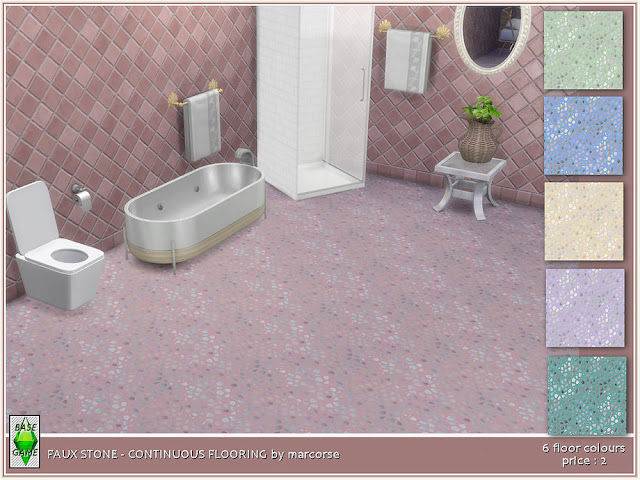 Каменное покрытия пола для The Sims 4 со ссылками на скачивание