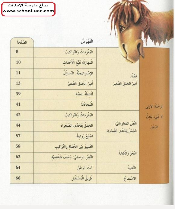 كتاب الطالب مادة اللغة العربية الصف الرابع الفصل الال 2020 مناهج الامارات
