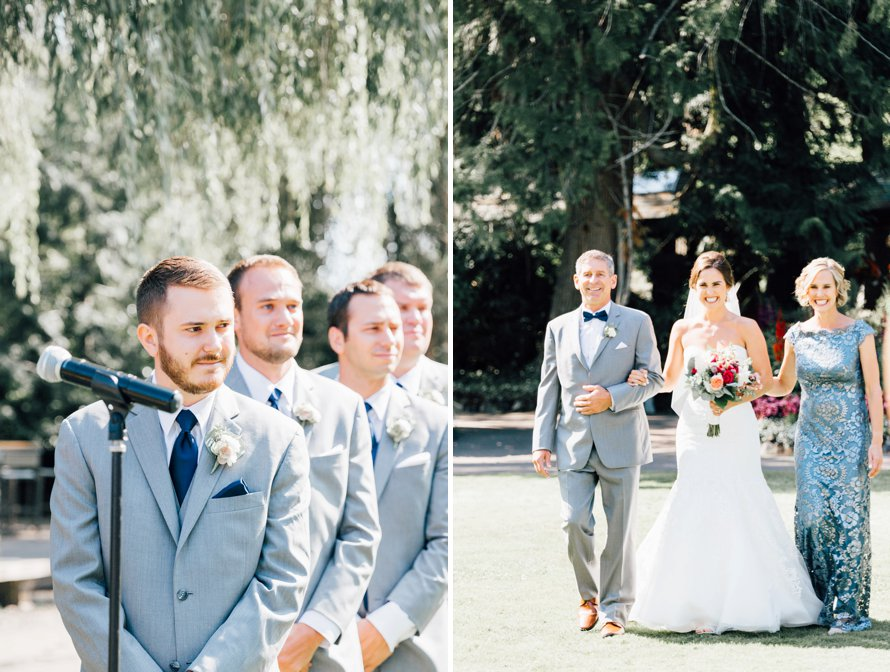 No First Look-Garden Wedding-Kiana Lodge-Something Minted Photography