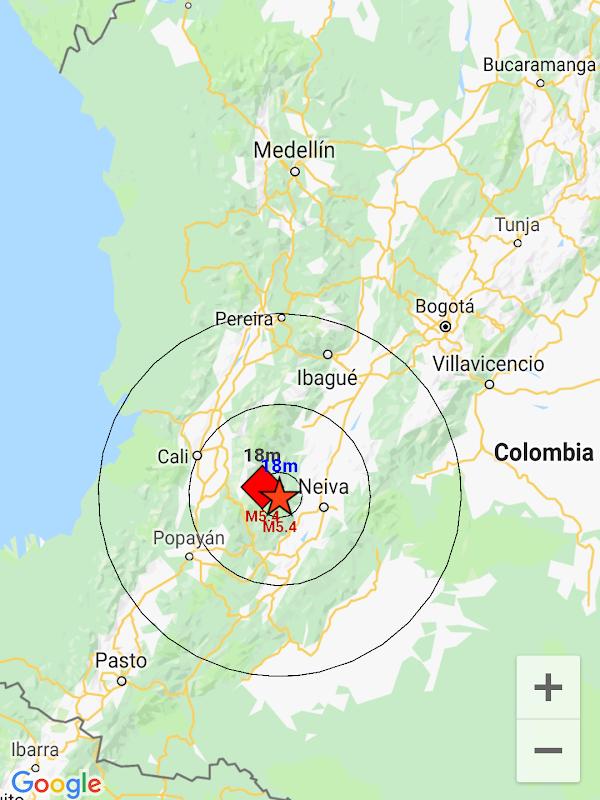 ULTIMA HORA: Sismo fuerte en Colombia.