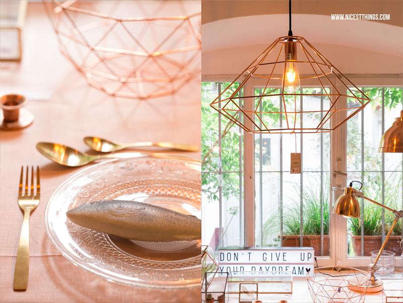 Kupferlampe geometrisch Bloomingville House Doctor