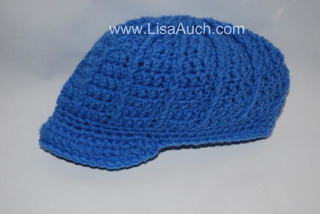 newsboy crochet hat pattern- peaky blinders style crochet baby hat pattern free
