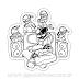 Friday Night Funkin skid And Pump magnet Sticker para Colorir