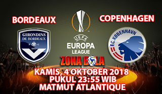 Prediksi Bordeaux vs Copenhagen 4 Oktober 2018