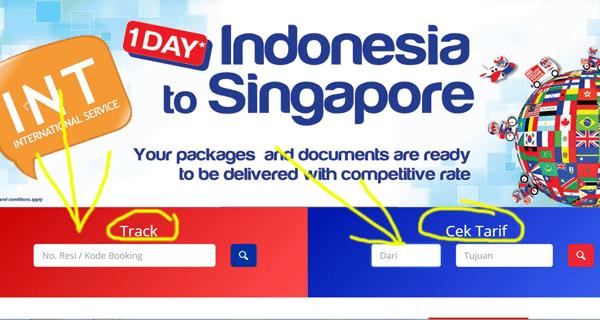 halaman web tiki untuk cek status pengiriman dan ongkos kirim di tiki