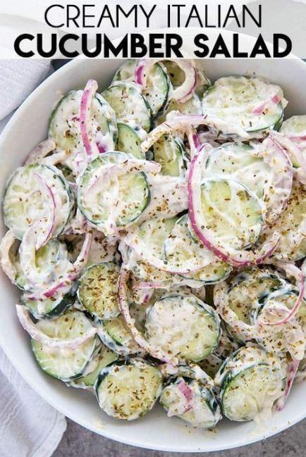 Creamy Italian Cucumber Salad