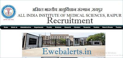 AIIMS Raipur Senior Resident Recruitment
