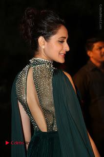 Actress Pragya Jaiswal Stills in Green Long Dress at Gemini TV Puraskaralu 2016 Event  0059.JPG