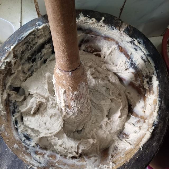 pounding achu, cameroon, cocoyams, food, bafut, anglophone