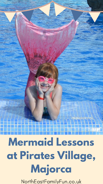 Pirate Swimming Pools and Mermaid Lessons at Pirates Village, Majorca