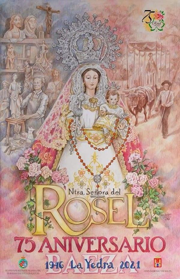 Cartel Conmemorativo del 75 aniversario de la Bendición de Nuestra Señora del Rosel de Baeza