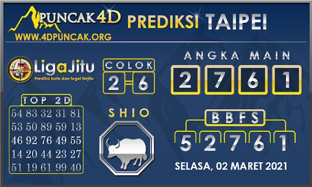 PREDIKSI TOGEL TAIPEI PUNCAK4D 02 MARET 2021