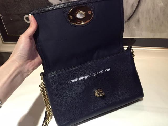 6db43497fb0c4 ... wholesale coach 53083 crosstown crossbody bag dark blue. pebble leather  6a14f 35611
