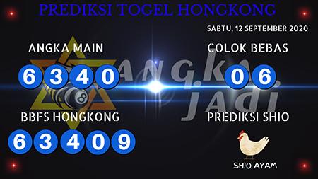 Prediksi Togel Angka Jitu Hongkong Sabtu 12 September 2020