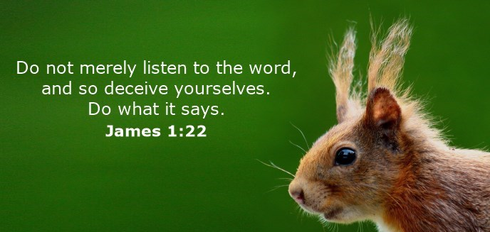 Do not merely listen to the word, and so deceive yourselves. Do what it says.