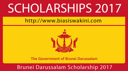 Government of Brunei Darussalam Scholarship 2017