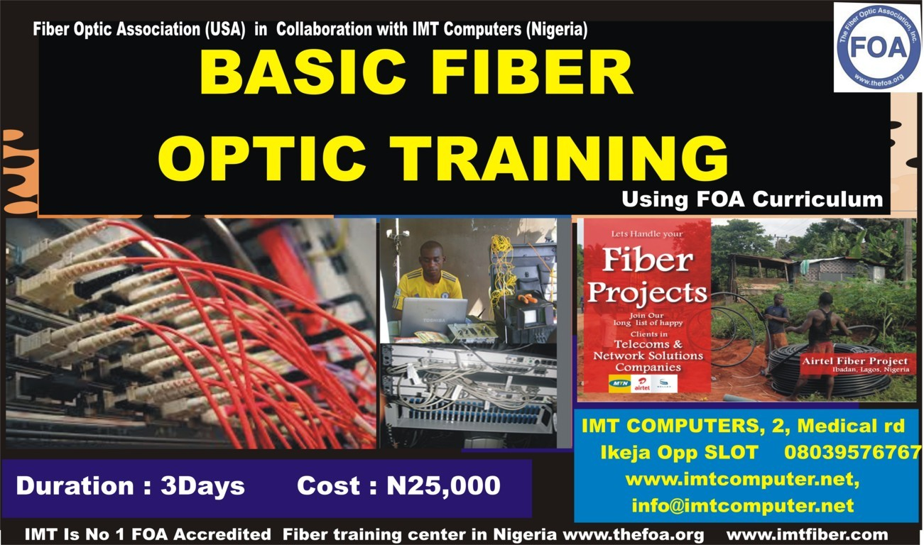 Certified Fiber Optics Training Cfot Course Imt Computer