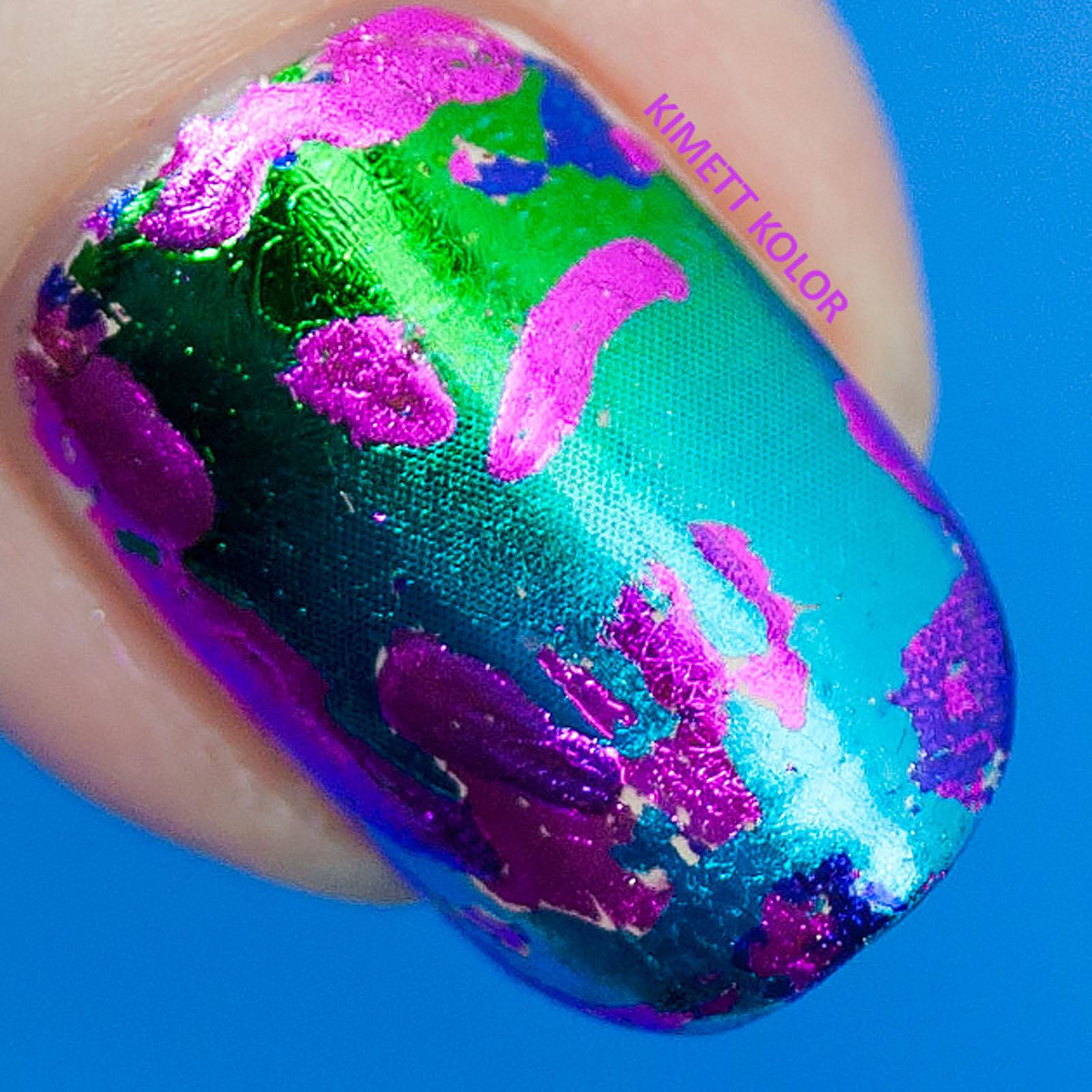 Kimett Kolor nail foil nail art base