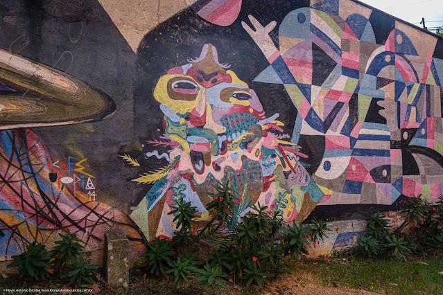 Um grafite na Emílio Cornelsen - detalhe